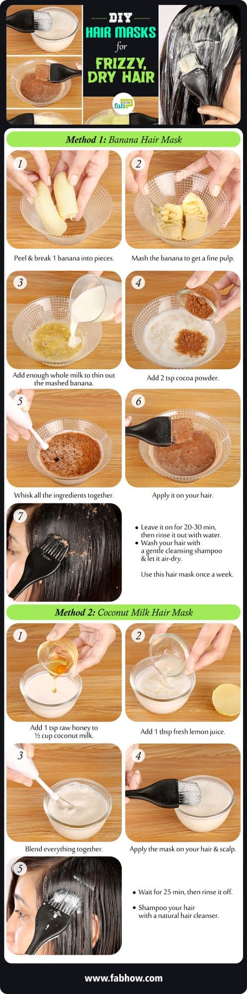 Homemade Hair Masks for Dry, Dull and Frizzy Hair Summary