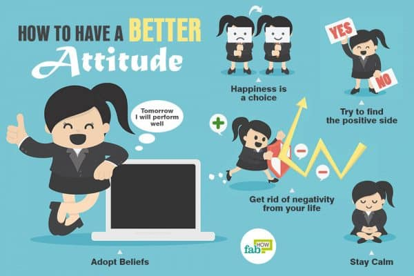 A better attitude can make you feel happy and optimistic