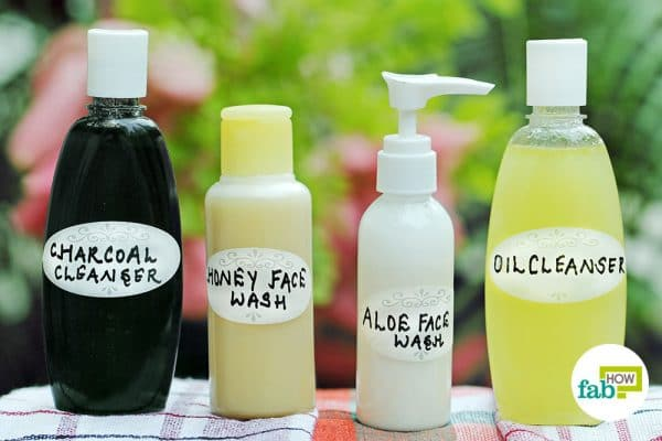 No more chemical products; make and use your own DIY face wash