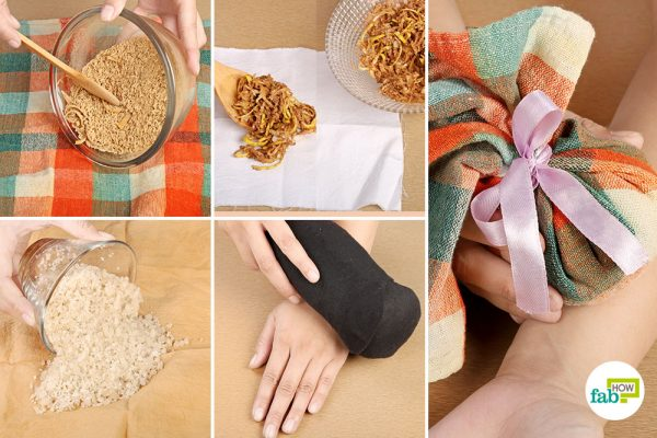 Make your own warm compress at home
