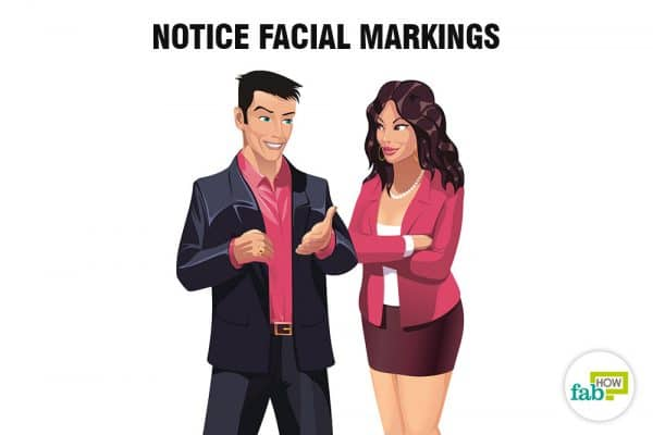 notice facial markings to read people