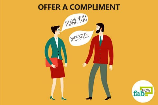 offer a compliment to initiate talk