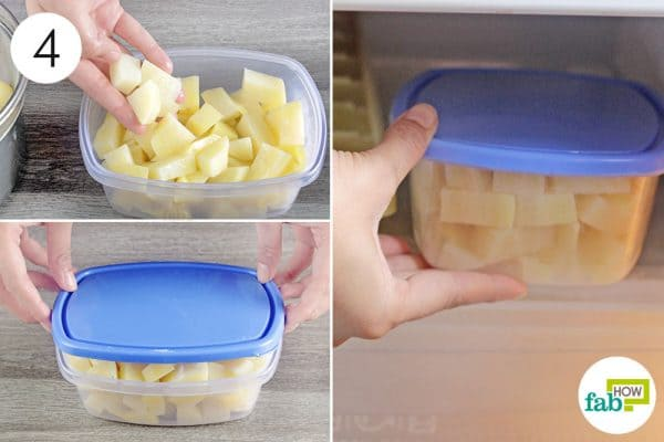 put the potatoes in the freezer