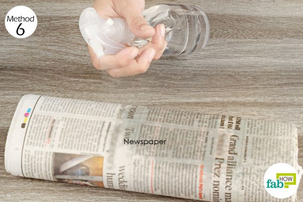 Set a wet newspaper trap to get rid of silverfish