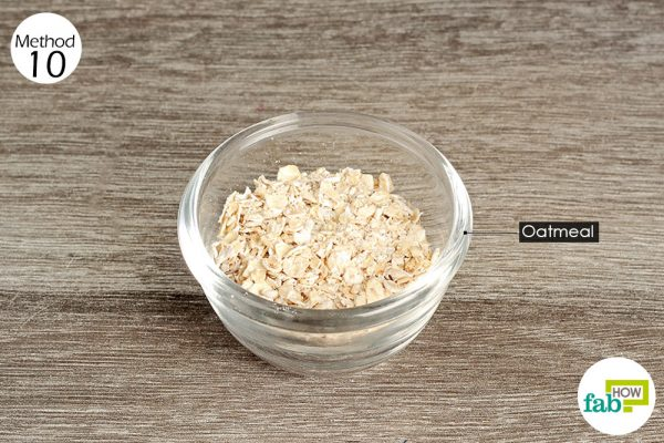 Add oatmeal to your baby's bath water for relief from diaper rash