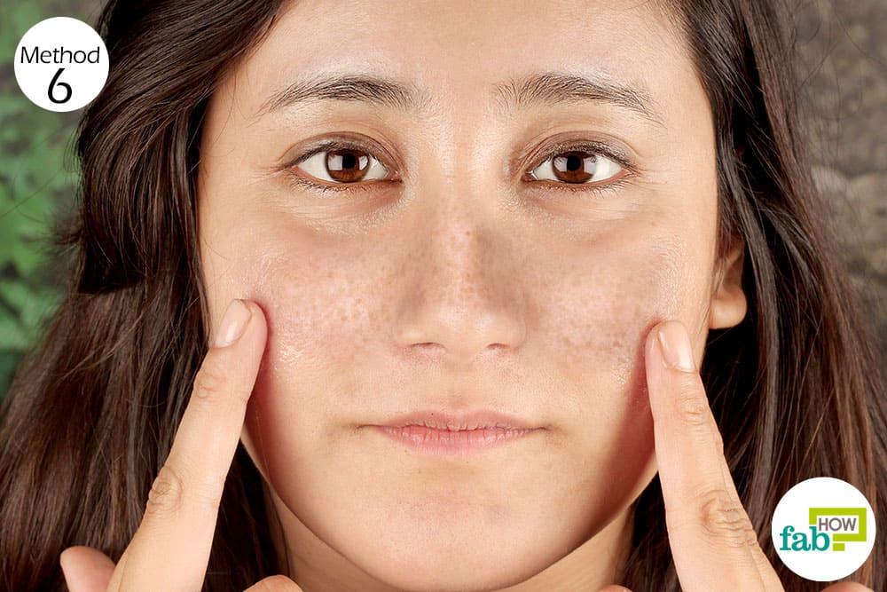 Caster oil facial treatment