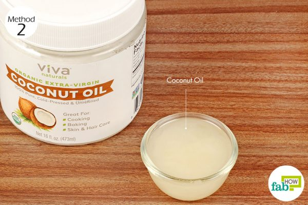 swab coconut oil on the affected areas in the mouth