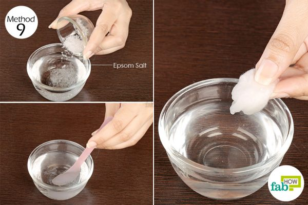 Apply Epsom salt solution to get rid of rosacea