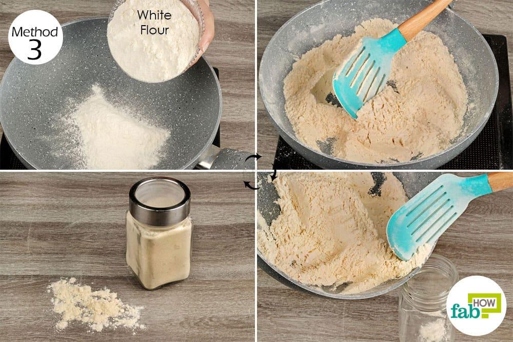 Browned flour for diaper rash