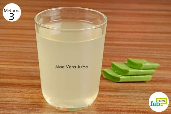 Aloe vera juice provides relief from constipation