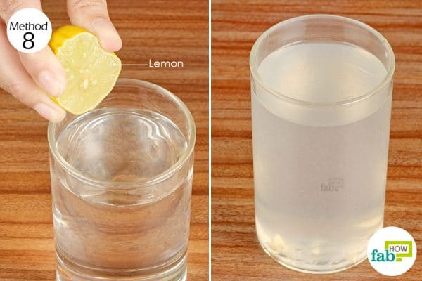 Drink warm lemon water for relief from gas and bloating when suffering from IBS