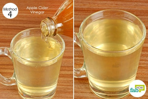 Drink diluted apple cider vinegar daily to treat IBS
