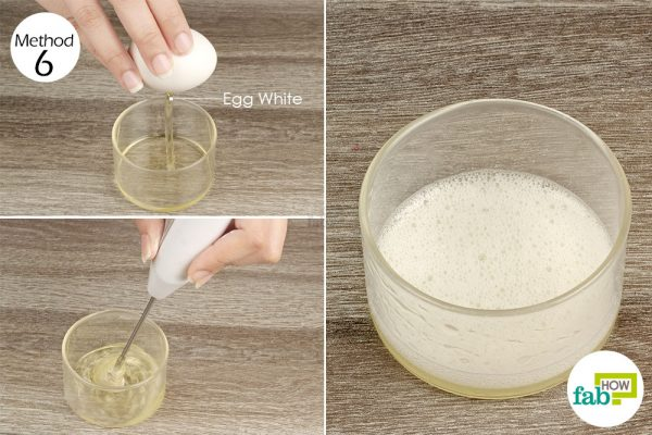 Apply whisked egg white to treat diaper rash