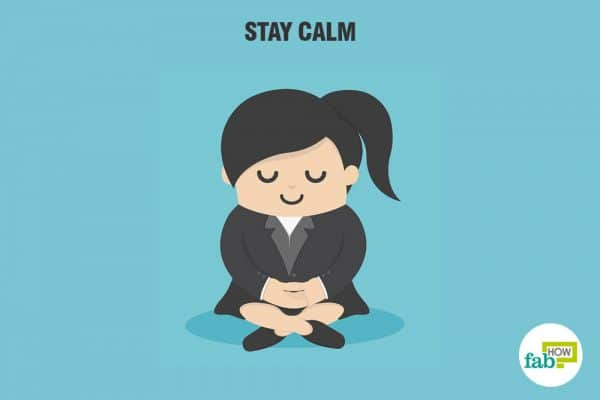 Stay calm and learn to control your emotions to develop a better attitude