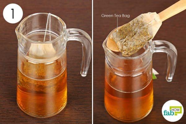 Brew a jug of green tea to get rid of rosacea