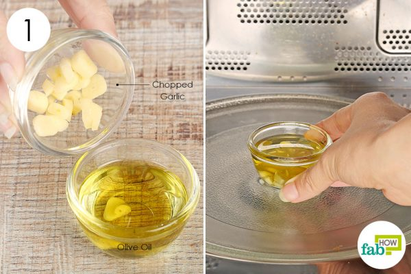 Heat up chopped garlic and olive oil to get rid of swimmer's ear