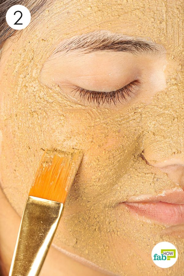 Mix and apply the prepared clay mask for skin lightening
