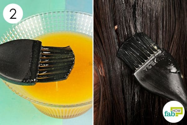 Blend all ingredients together and use this hair mask once a week to get shiny hair