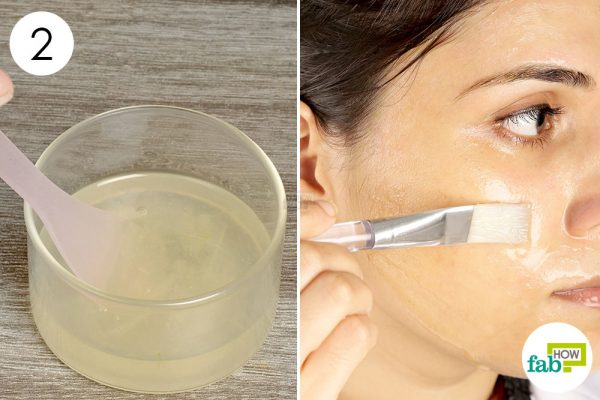 Mix well and apply it to lighten skin