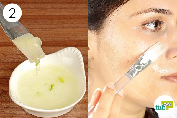 mix well and apply the mask to get rid of acne