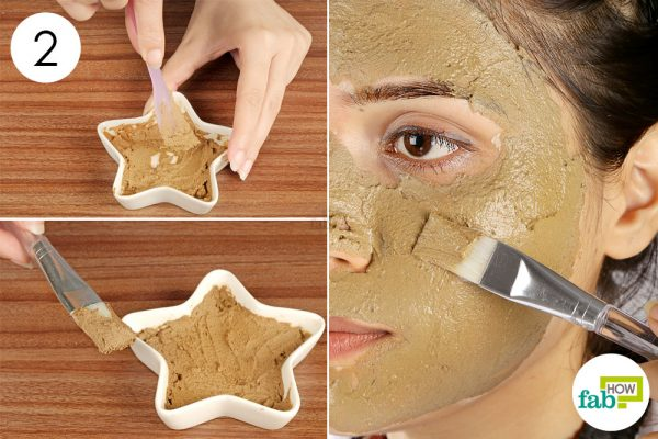 Mix and apply the mask to get rid of acne