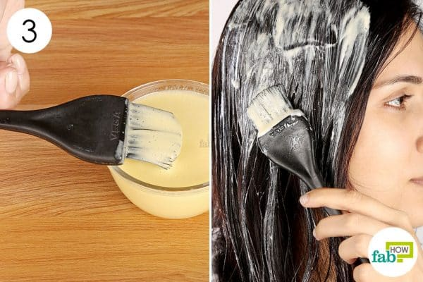apply the egg hair mask to get rid of frizzy hair