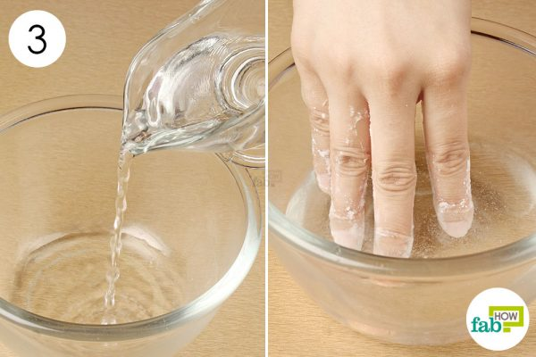 soak your nails in water to get clean nails