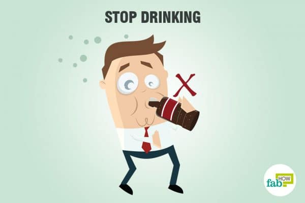 Stop drinking more to sober up fast