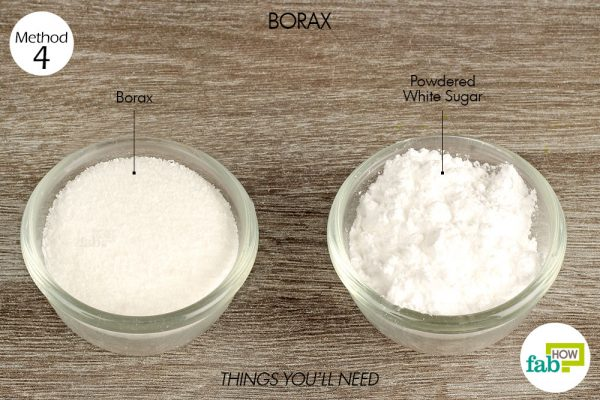 Use borax to get rid of silverfish