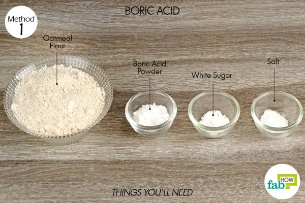 Use boric acid to get rid of silverfish