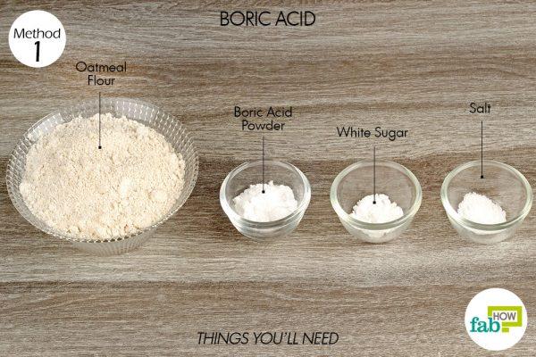 Use boric acid to get rid of silverfish