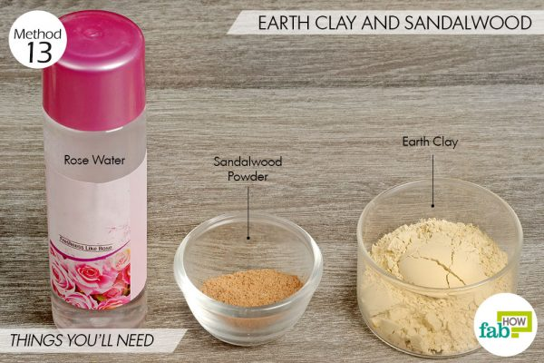 Earth Clay and sandalwood to lighten skin