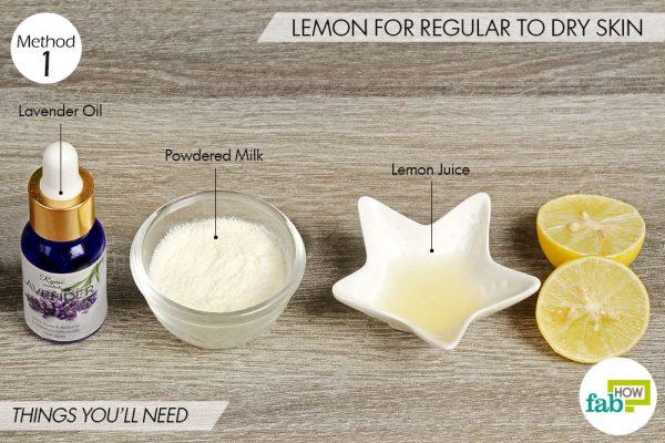 lemon for regular to dry skin