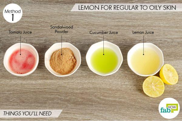 lemon for regular to oily skin