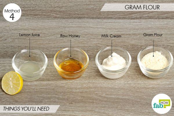 Gram flour to lighten skin