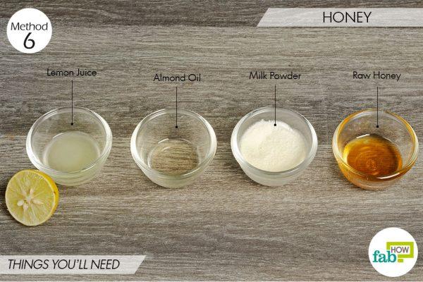 Honey to lighten skin