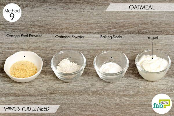Oatmeal to lighten skin