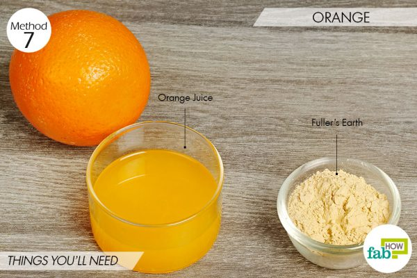 Orange to lighten skin
