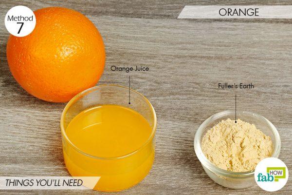 Orange to lighten skin