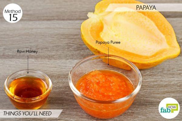 Papaya to lighten skin