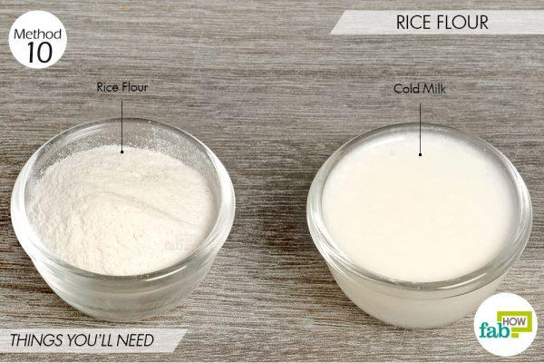 Rice flour to lighten skin