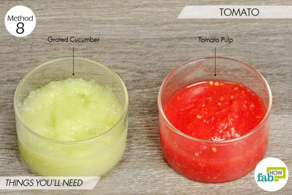 Tomato to lighten skin