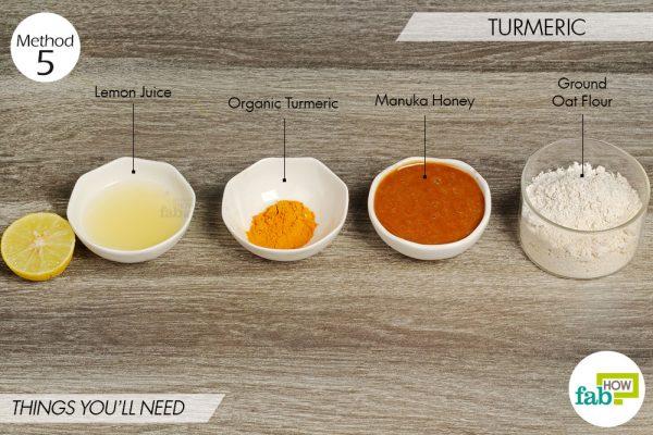 Turmeric to lighten skin