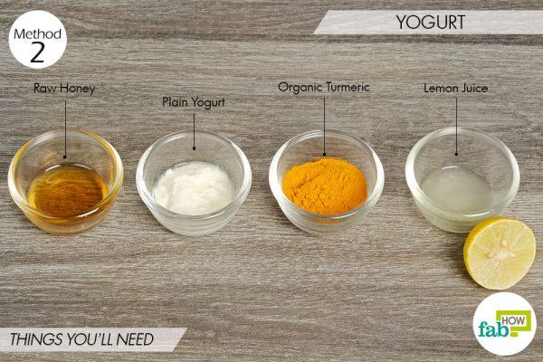 Yogurt to lighten skin