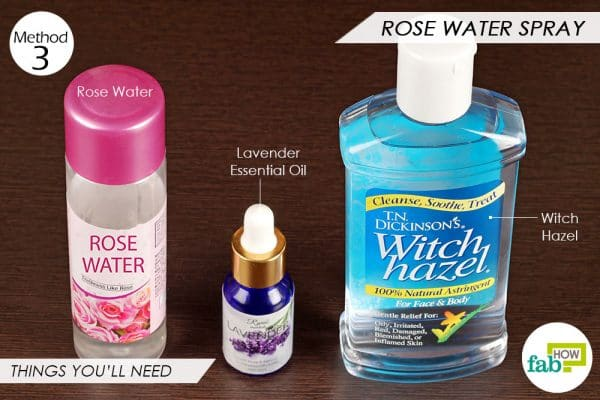 Things you'll need to make rose water after-sun spray