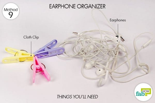things needed to make earphone organizer
