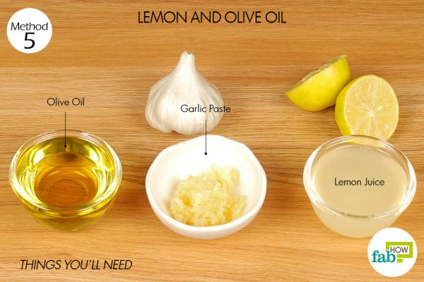 lemon juice, olive oil and garlic to get rid of gallstones