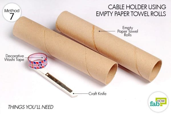 things needed to make cable holder