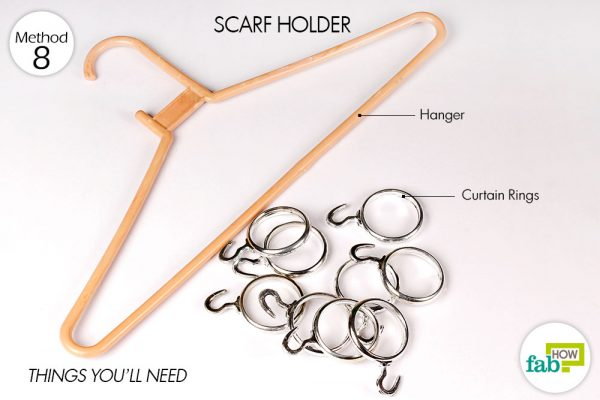 things needed to make a scarf holder to organize your room