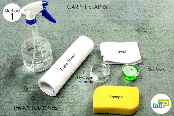 Things needed to remove carpet stains